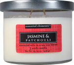 Candle Lite 1542020 Scented Candle, Jasmine & Patchouli, 14.75-oz. Jar