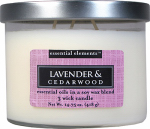 Candle Lite 1542353 Scented Candle, Lavender & Cedar Wood, 14.75-oz. Jar