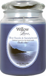 Candle Lite 1646033 Scented Candle, Blue Suede & Sandalwood, 19-oz. Jar