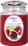 Candle Lite 1646991 Scented Candle, Sweet Cherries & Cinnamon, 19-oz.