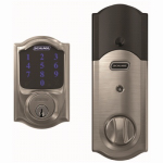 Schlage Lock BE469NXV CAM 619 Electronic Deadbolt Lock, Touch Screen Keypad, Camelot Design, Satin Nickel