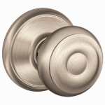 Schlage Lock F10 GEO 619 Passage Lockset, Georgian Knob, Satin Nickel, Fits 2-3/8 & 2-3/4-In. Backsets