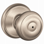 Schlage Lock F40 GEO 619 Privacy Lockset, Georgian Knob, Satin Nickel, Fits 2-3/8 & 2-3/4-In. Backsets