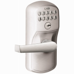 Schlage Lock FE595CSVPLYXELA626 Entry Lock, Electronic Keypad, Plymouth Design, Satin Chrome