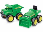 Tomy International 35874 Toy Dump Truck & Tractor, 2-Pk.