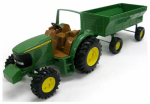 "Tomy International 37163P JD 8"" Tractor/Wagon"