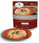 Wise 03-702 Camp Food, Pasta Alfredo With Chicken, 2-Serving Pouch