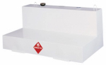 Delta Consolidated Inds 480000 Liquid Transfer Truck Tank, L-Shaped Steel, White, 105-Gal.