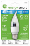 G E Lighting 68168 LED Light Bulb, Candle Shape, Medium Base, 4.5-Watt