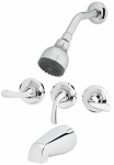 Homewerks Worldwide 179914 Shower Faucet, Non-Pressure Balancing, 3-Handle, Chrome