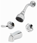 Homewerks Worldwide 179915 Shower / Tub Faucet + Showerhead, Non-Pressure Balancing, 2-Handle, Chrome