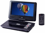 Craig Electronics CTFT713 Portable DVD/CD Player With Remote Control, 9-In.