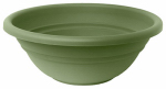 Bloem MB1517-42 Milano Planter Bowl, Living Green Plastic, Indoor/Outdoor, 17-In.