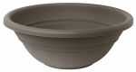 Bloem MB1517-60 Milano Planter Bowl, Peppercorn Plastic, Indoor/Outdoor, 17-In.