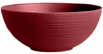 Bloem PB12-12 Dura Cotta Planter Bowl, Union Red Plastic, Indoor/Outdoor, 12-In.