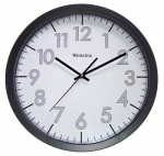 Nyl Holdings/Westclox 32067 Office Wall Clock, Black/Gray, 14-In.