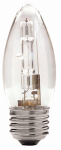 Globe Electric 71127 Halogen Bulb, Fan, B11, Clear, 43-Watt, 2-Pk.