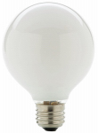 Globe Electric 71139 Halogen Bulb, G25, White 43-Watt, 2-Pk.