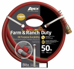 Teknor-Apex 989-50 Garden Hose, Farm & Ranch Duty, 450 PSI, Dark Red, 3/4-In. x 50-Ft.