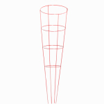 "Glamos Wire Product 60444 16x54"" Glamos Heavy Duty Blazin Gemz round plant support and tomato cage combo."