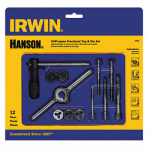 Irwin Industrial Tool 24605 Machine Screw Fractional Tap & Hex Die Set, 12-Pc.