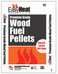 Easy Heat Wood Pellets PELLET-PREM-TON-RDC06 40LB Wood or Wooden Fuel Pellet