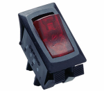 Gardner Bender GSW-42 Illuminated Rocker Switch, Red, 12-Amp, 125-Volt