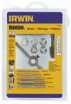 Irwin Industrial Tool 1765541 Metric Tap & Hex Die Set, 12-Pc.