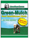 Jonathan Green & Sons 10945 Green Mulch Seed, 45-Lbs., 600-750-Sq. Ft. Coverage