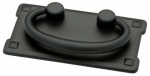 Brainerd Mfg Co/Liberty Hdw 62076BK Cabinet Pull, Horizontal Bail, Flat Black, 3-In.