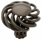 Brainerd Mfg Co/Liberty Hdw 65102RB Cabinet Knob, Birdcage, Rubbed Bronze, 1.5-In.