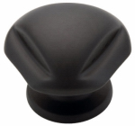 Brainerd Mfg Co/Liberty Hdw 62933BK Cabinet Knob, Triangle, Flat Black, 1.25-In.