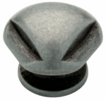 Brainerd Mfg Co/Liberty Hdw 62933AP Cabinet Knob, Triangle, Antique Pewter, 1.25-In.