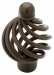 Brainerd Mfg Co/Liberty Hdw 65101RB Cabinet Knob, Birdcage, Rubbed Bronze, 1.25-In.