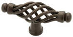 Brainerd Mfg Co/Liberty Hdw 65109RB Cabinet Knob, Birdcage, Rubbed Bronze, 2-11/16-In.