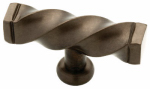 Brainerd Mfg Co/Liberty Hdw 65213RB Cabinet Knob, Iron Craft Twist, Rubbed Bronze, 2.5-In.