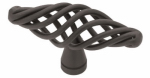 Brainerd Mfg Co/Liberty Hdw P0528A-FB-C Cabinet Knob, Large Birdcage, Flat Black, 2.5-In.