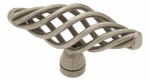 Brainerd Mfg Co/Liberty Hdw P0528A-AP-C Cabinet Knob, Large Birdcage, Antique Pewter, 2.5-In.