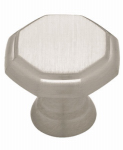 Brainerd Mfg Co/Liberty Hdw PN0292-SN-C Cabinet Knob, Octagon, Satin Nickel, 30mm