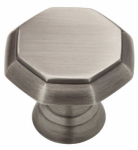 Brainerd Mfg Co/Liberty Hdw PN0292-904-CP Cabinet Knob, Octagon, Heirloom Silver, 1-3/16-In.