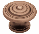 Brainerd Mfg Co/Liberty Hdw PN0407-RAL-C Cabinet Knob, Concentric Round, Antique Red, 1-3/8-In.