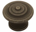 Brainerd Mfg Co/Liberty Hdw PN0407-OB-C Cabinet Knob, Concentric Round, Distressed Bronze, 1-3/8-In.