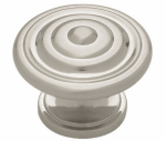 Brainerd Mfg Co/Liberty Hdw PN0407-SN-C Cabinet Knob, Concentric Round, Satin Nickel, 1-3/8-In.