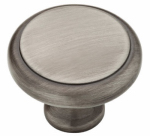 Brainerd Mfg Co/Liberty Hdw PN0409-904-CP Cabinet Knob, Heirloom Silver, 1-3/16-In.