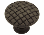 Brainerd Mfg Co/Liberty Hdw PN0416-OB-C Cabinet Knob, Basket Weave, Distressed Bronze, 1-1/8-In.