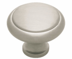 Brainerd Mfg Co/Liberty Hdw PN0409-SN-C Cabinet Knob, Satin Nickel, 1-3/16-In.