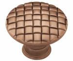 Brainerd Mfg Co/Liberty Hdw PN0416-RAL-C Cabinet Knob, Basket Weave, Antique Red, 1-1/8-In.