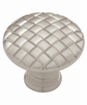 Brainerd Mfg Co/Liberty Hdw PN0416-SN-C Cabinet Knob, Basket Weave, Satin Nickel, 1-1/8-In.