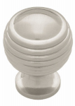 Brainerd Mfg Co/Liberty Hdw PN0523-SN-C Cabinet Knob, Astro Dome, Satin Nickel, 1-1/8-In.