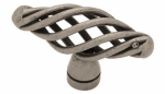 Brainerd Mfg Co/Liberty Hdw PN0528-AP-C Cabinet Knob, Small Birdcage, Pewter, 2-In.